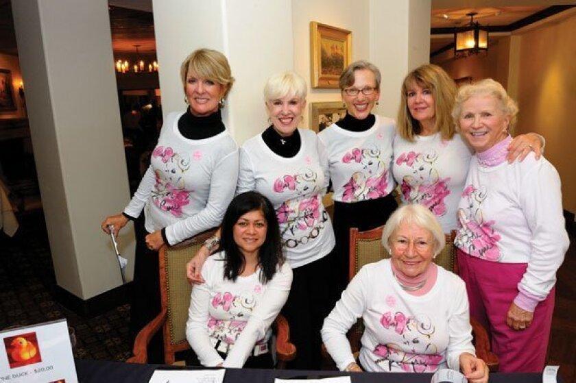 Seated: Nicki Shields, Joyce Burns, Standing: Janet Christ, Sharon Considine, Joan Flowers, Kat Nunn and Dolores Crawford