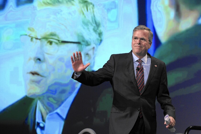 Former Florida Gov. Jeb Bush, at an economic growth summit last week, will travel to Germany, Poland and Estonia this week before officially starting his White House bid.
