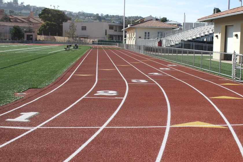 La Jolla High School's new track and stadium opened in October 2016.