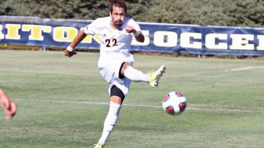 UCSD defender Jeff Powers scored his first college goal in the Tritons' 2-0 victory on Sunday over Western Washington.