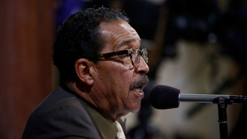 LOS ANGELES, CA: June 10, 2015 - Los Angeles City Council President Herb Wesson speaks during a city