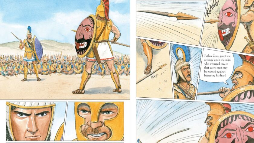 Illustration fron the graphic novel ILIAD by Gareth Hinds.