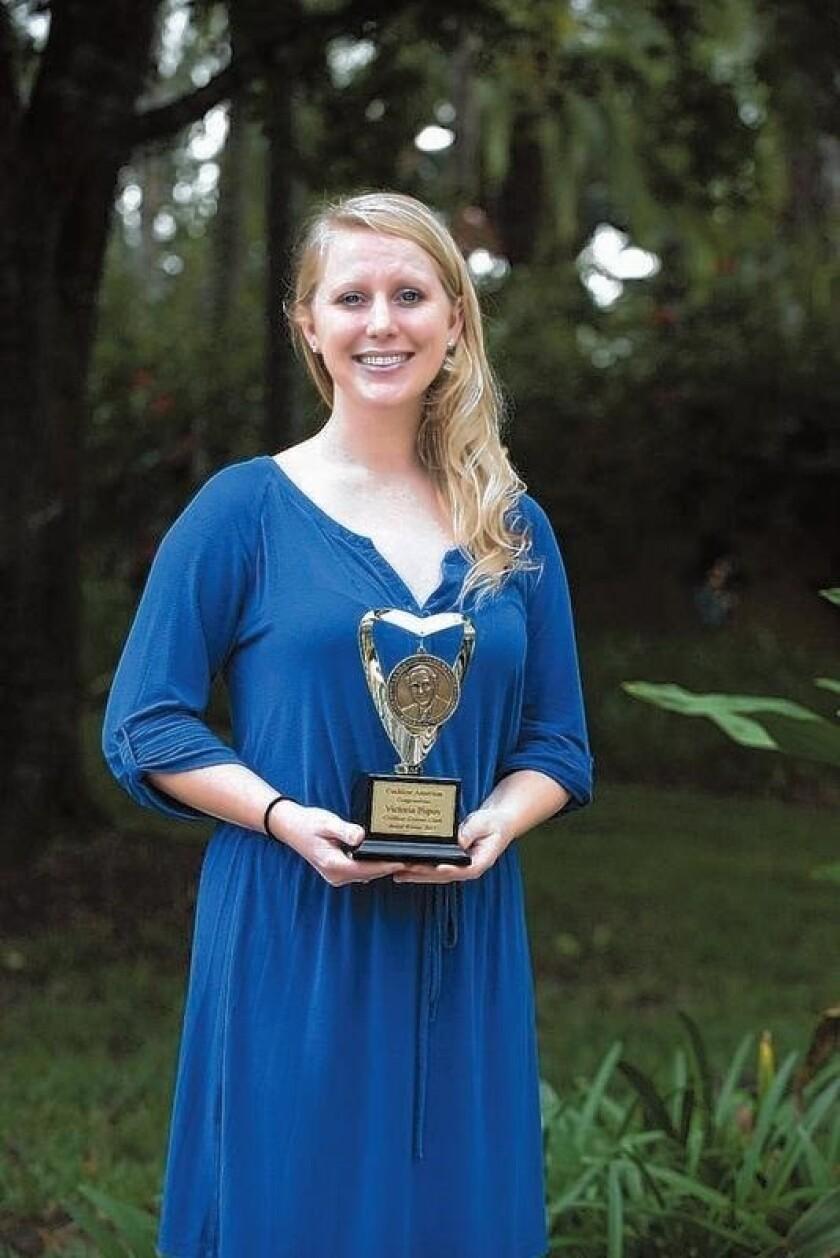 Victoria Popov won Cochlear Limited's Graeme Clark Scholarship.