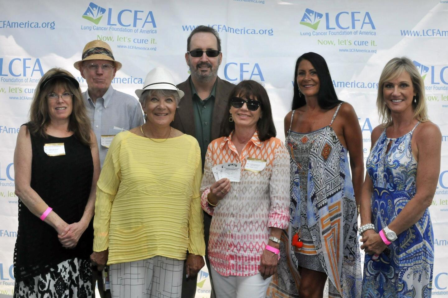 Lung cancer survivors Suzanne Morrison, Al Silliman, Michael Weitz, Paula Friendly, Sharon Fisher, Carolyn Zainer, Cynthia Purcell