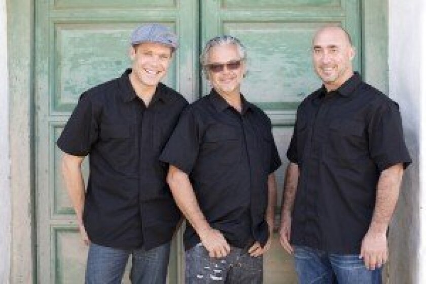 From left, Brian Malarkey, Andrew Spurgin and Antonio Friscia are chef/partners in the new catering and events company Campine. Courtesy photos