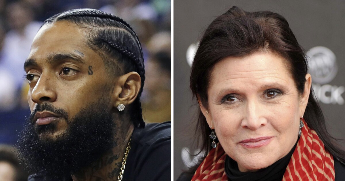 Nipsey Hussle, Carrie Fisher getting stars on Walk of Fame - Los Angeles Times