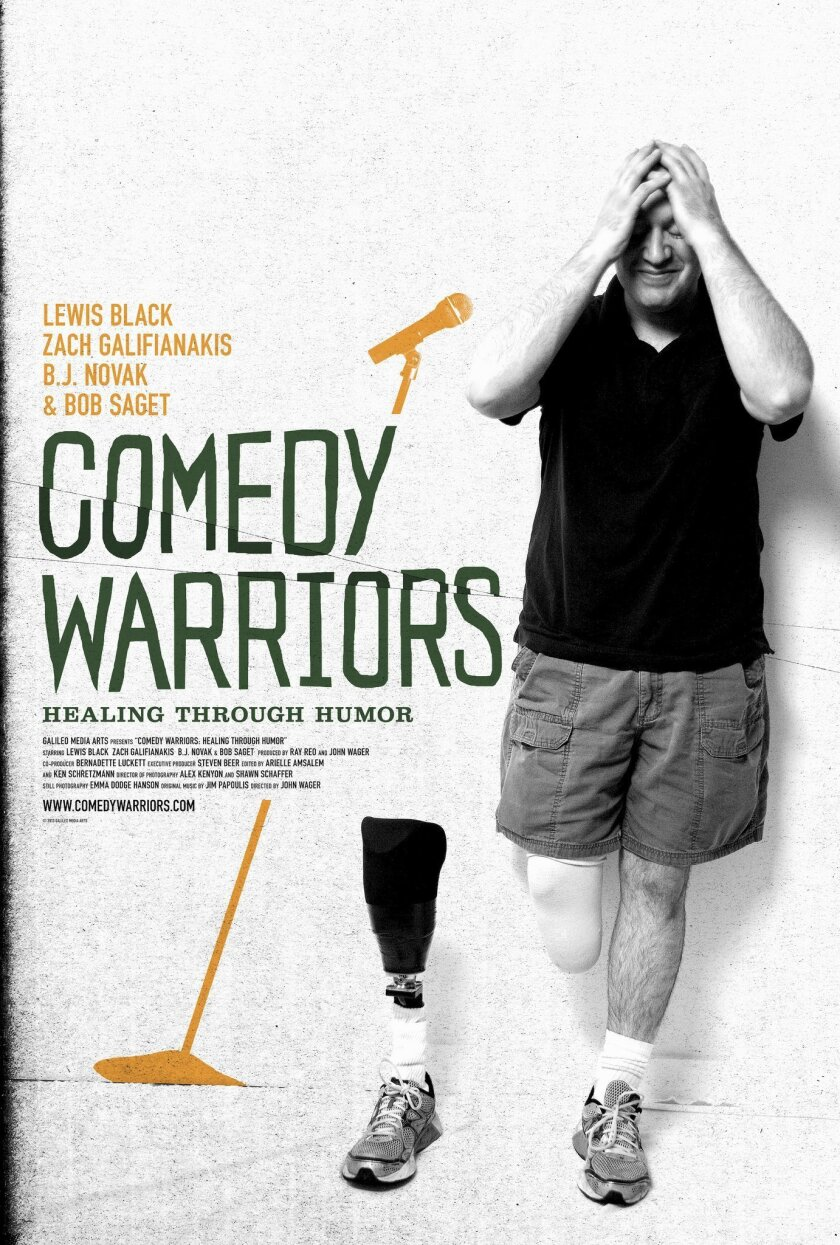 """""""Comedy Warriors: Healing though Humor,"""" screens 7 p.m. Wednesday, Oct. 29 at Garfield Theatre, Jewish Community Center, 4126 Executive Drive, La Jolla. Tickets: $15.25 at (858) 362-1348 or sdjff.org"""