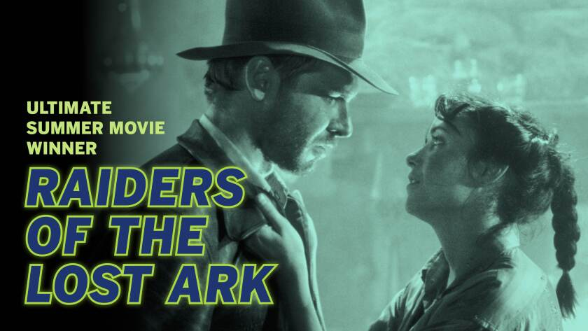 """Harrison Ford and Karen Allen in """"Raiders of the Lost Ark."""""""