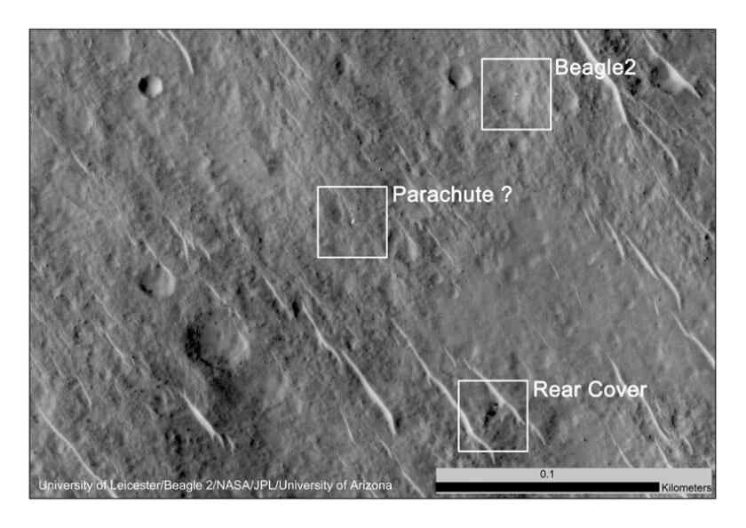 Beagle 2 lander in HiRISE image