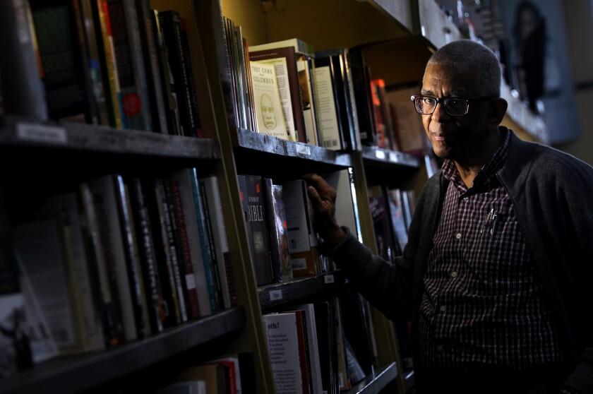 James Fugate, co-owner of Eso Won Books in Leimert Park