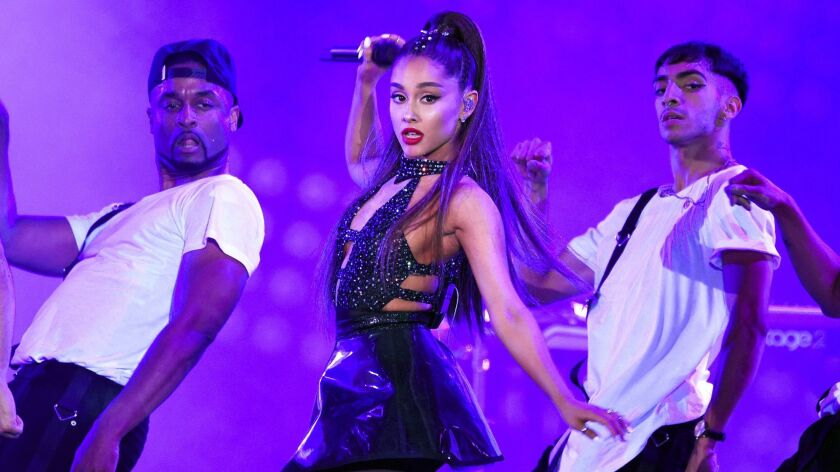 Ariana Grande performs at Wango Tango in Los Angeles.
