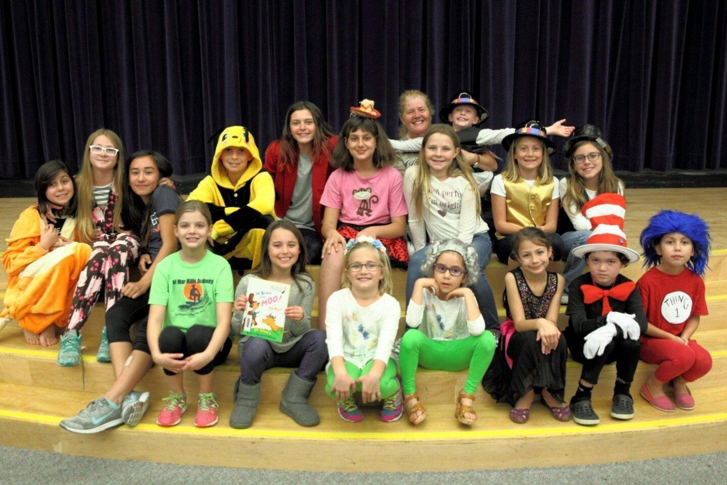Students at Del Mar Hills Academy celebrate the magical work of Dr. Seuss