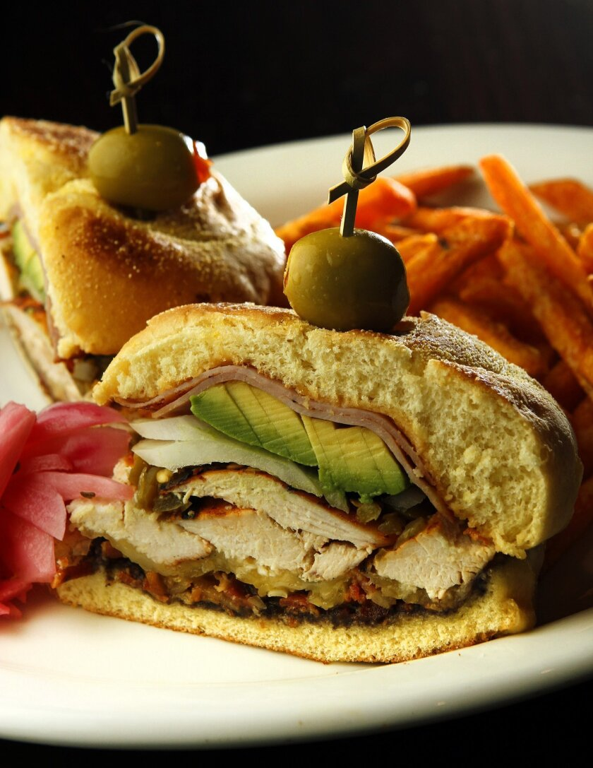 A Mexican sandwich at Maria Maria in Mission Valley.