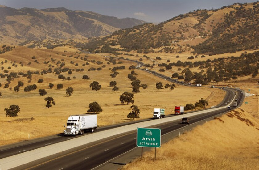 This section of California 58 in Kern County is roughly a quarter mile south of the route for a bullet train between Los Angeles and San Francisco proposed by the California High-Speed Rail Authority.