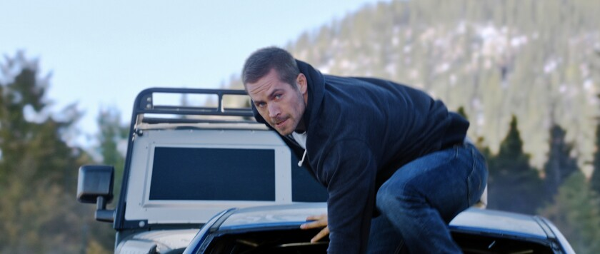 """The late Paul Walker as Brian in the $1-billion-grossing Universal Pictures film """"Furious 7."""""""