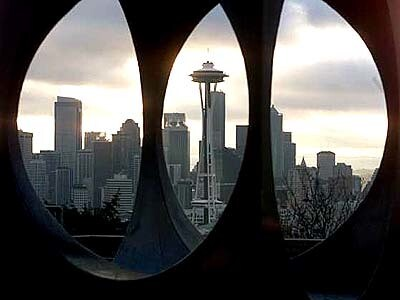 A familiar feature of Seattle's skyline is the 607-foot Space Needle, built for the 1962 World's Fair. The exposition also spurred the city to rescue the area from decline; today it is among the nation's most dynamic downtowns.