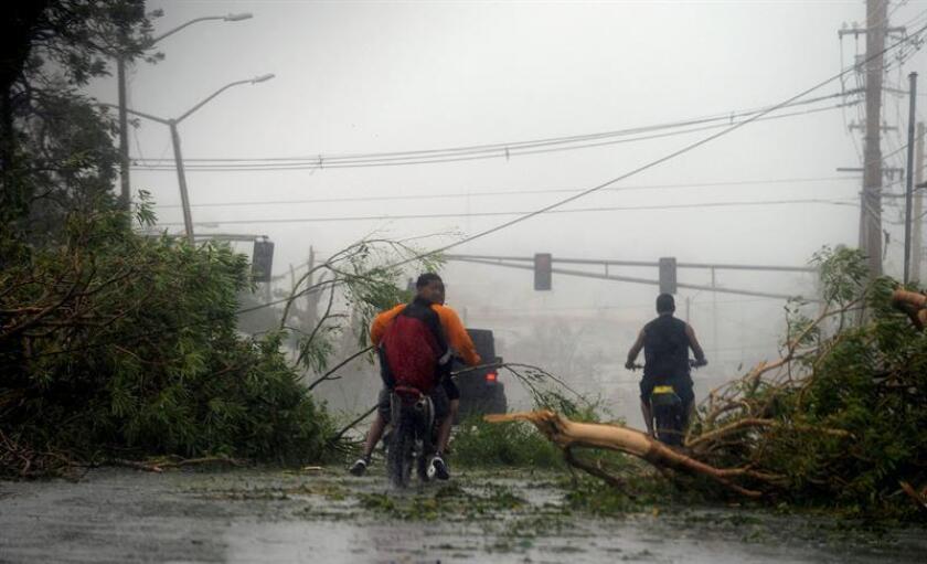 Vista de los daños causados tras el paso del huracán María, el miércoles 20 de septiembre de 2017, en San Juan (Puerto Rico). EFE/Archivo