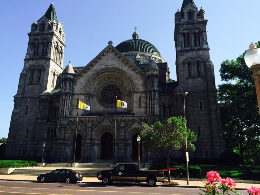 The Cathedral Basilica of Saint Louis is located in the tony Central West End.