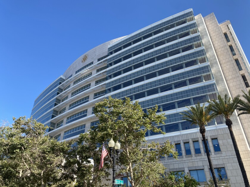The Ronald Reagan Federal Building and U.S. Courthouse at 411 West Fourth St. in Santa Ana.