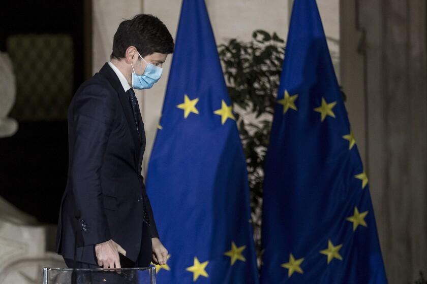 El ministro italiano de Salud Roberto Speranza