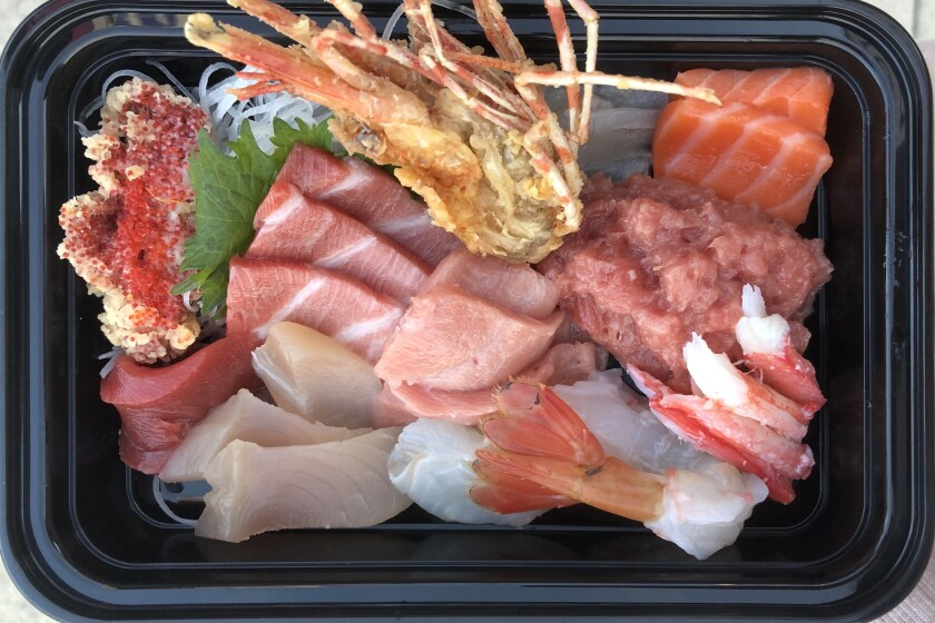 A selection of sushi from The Brothers Sushi in Woodland Hills.