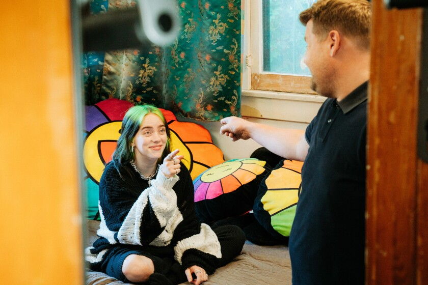Billie Eilish and James Corden on 'Carpool Karaoke'