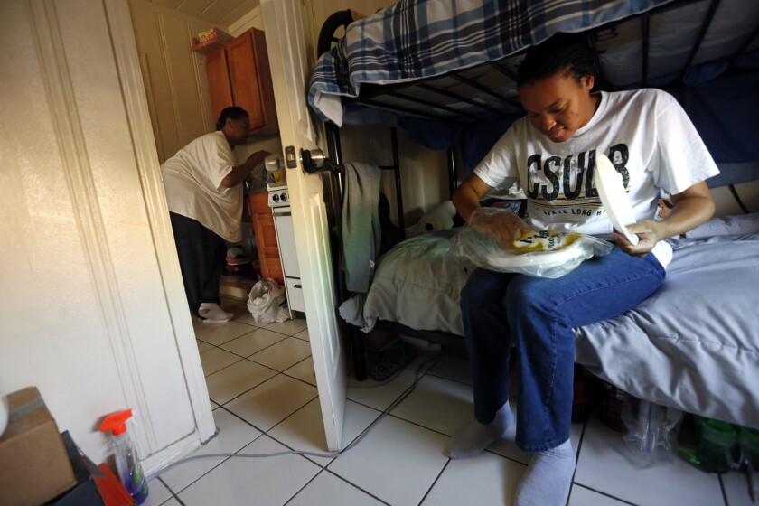A Cal State Long Beach student in 2016 turned to transitional housing