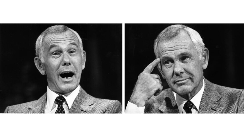 """Sept. 15, 1982: Johnny Carson during a taping of """"The Tonight Show."""""""