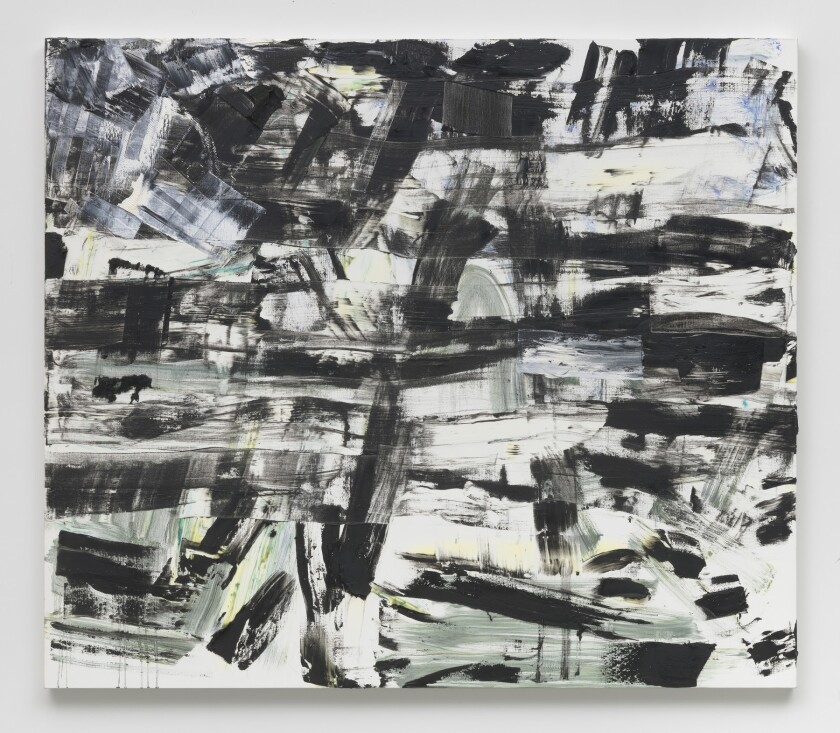 """Louise Fishman's """"Frigg,"""" 2018. Oil on linen, 74 inches by 86 inches."""