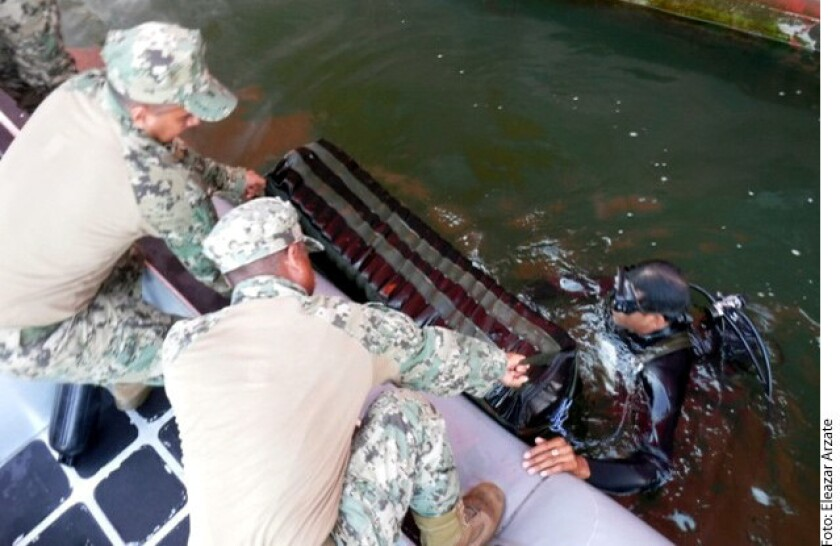 La Secretaría de Marina aseguró aproximadamente 284.6 kilogramos de cocaína en el buque CAP PALLISER de bandera Liberiana.