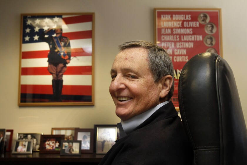 Tom Sherak, newly appointed by Mayor Eric Garcetti as L.A.'s film czar, is former president of the Academy of Motion Picture Arts and Sciences. He's seen here in his academy office in Beverly Hills in 2012.