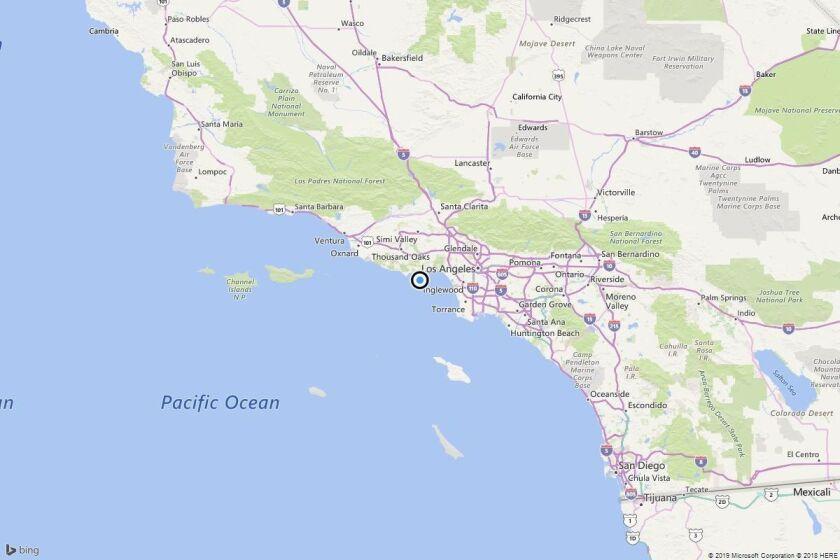 Earthquake: 2.6 quake strikes near Malibu Beach, Calif.