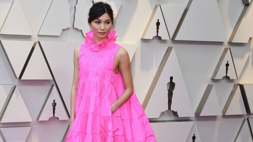 Actress Gemma Chan arrives for the 91st Annual Academy Awards in Los Angeles on Feb. 24, 2019.