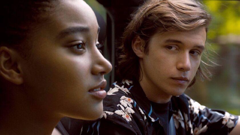 "Amandla Stenberg and Nick Robinson in ""Everything, Everything,"""
