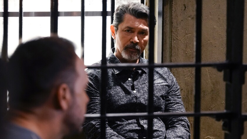 """Donnie Wahlberg, left, and Lou Diamond Phillips in """"Blue Bloods"""" on CBS."""