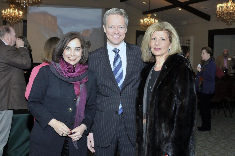SD Museum of Art Maruja Baldwin Executive Director Roxana Velasquez, COO Dieter Fenkart-Froeschl, board member Demi Rogozienski (www.SDMart.org)