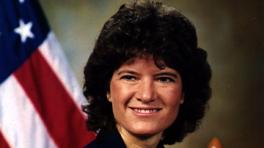 Sally Ride in her official NASA headshot