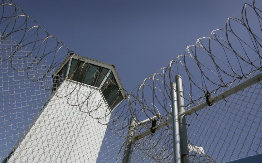 A guard tower at Richard J. Donovan Correctional Facility, part of the California State Prison System, is shown in a file photo.