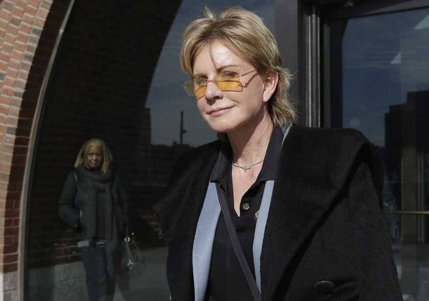 Patricia Cornwell, author of the bestselling Kay Scarpetta mystery novels, in Boston after testifying against her former financial management company.