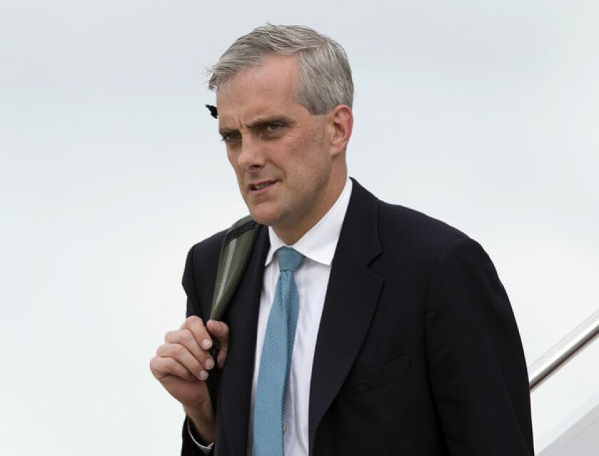 White House Chief of Staff Denis McDonough returns to Andrews Air Force Base, Md., after a trip with President Obama on May 19.