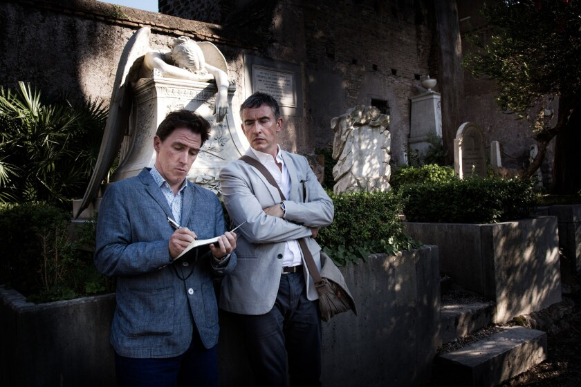 """Rob Brydon, left, and Steve Coogan in """"The Trip to Italy."""""""
