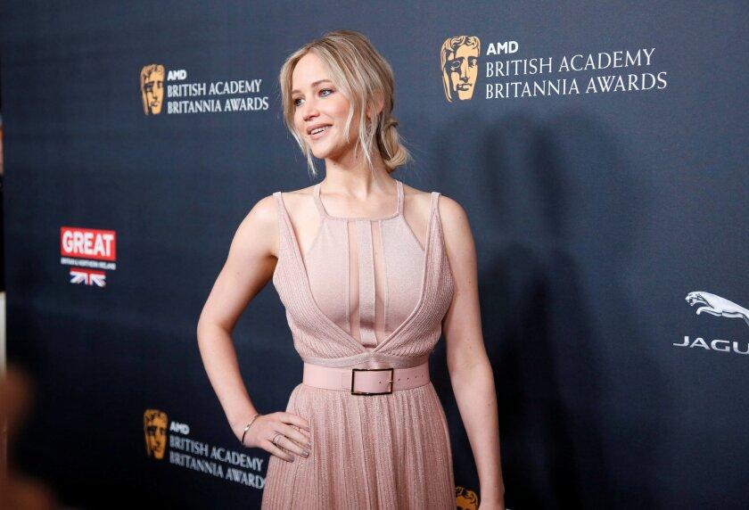 La actriz Jennifer Lawrence en un evento reciente. Ahora, parece haberse confirmado su relación amorosa con el director Darren Aronofsky.