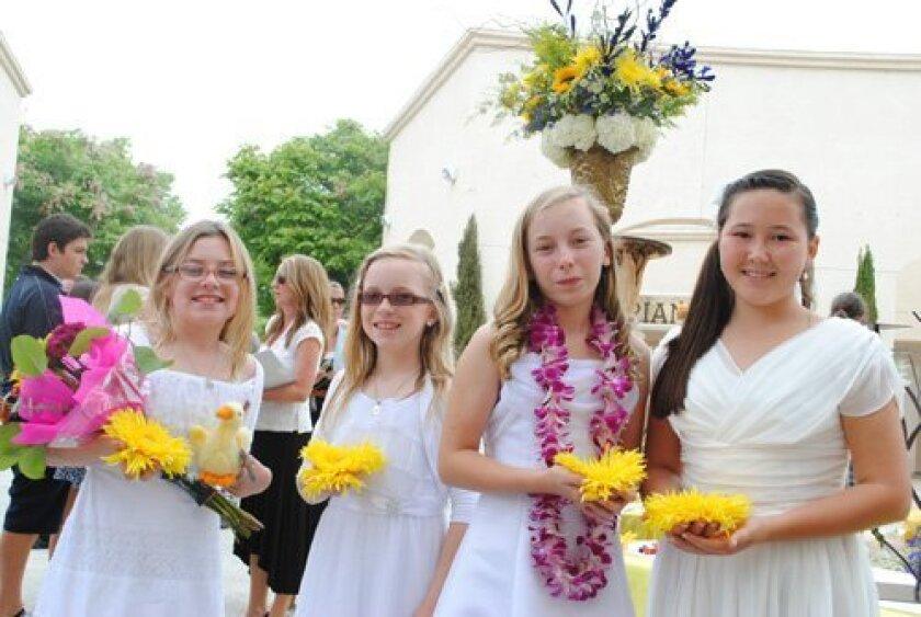 Cassandra McDaniel, Katie Myron, Michaela Mitchum and Dinara Dunham