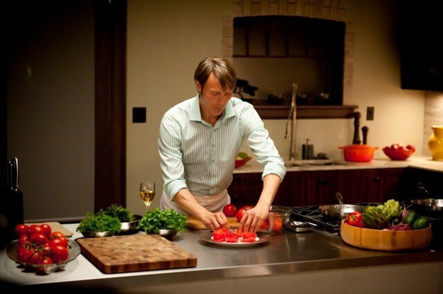 """""""Lecter's kitchen is his performance space,"""" production designer Patti Podesta said, """"and while he may be performing for himself much of the time, it had to be a space that reflects his orderly, highly visceral aesthetic."""""""