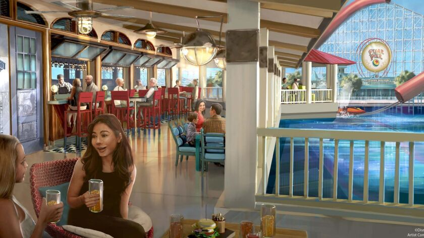 Lamplight Lounge, a retheming of the old Ariel's Grotto restaurant, will open June 23 as part of the new Pixar Pier area of Disney California Adventure Park.
