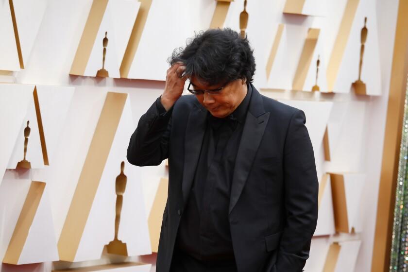 """Parasite"" director Bong Joon Ho arriving at the 92nd Academy Awards."