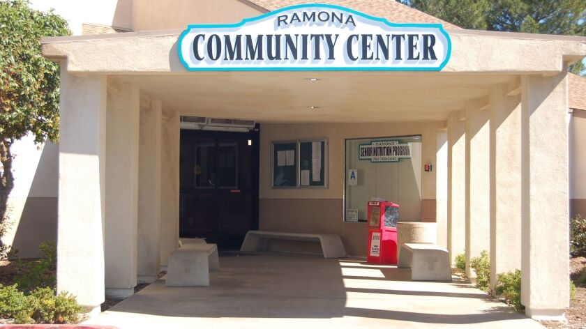 Ramona Community Center is home to the town's senior center.