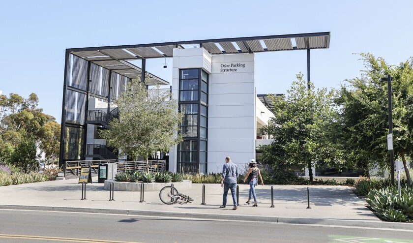 A view of the Osler Parking Structure at UC San Diego on Thursday, named after Dr. William Osler