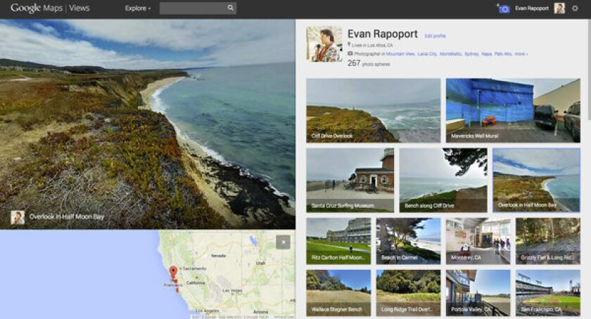 """Google's new """"Views"""" site makes it possible for users to upload their """"photo sphere"""" images from their Google+ accounts and from their Android devices onto Google Maps."""