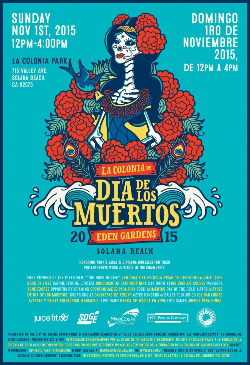 This will be Solana Beach's first-ever Dia de los Muertos event.
